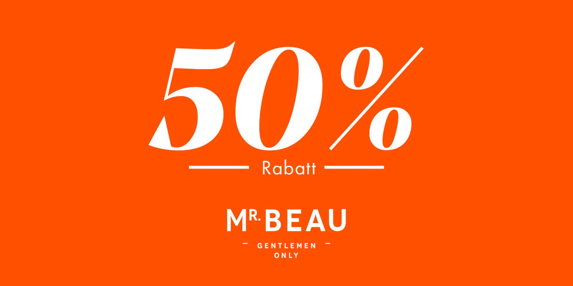Mr Beau Trier 50 % auf Produkte
